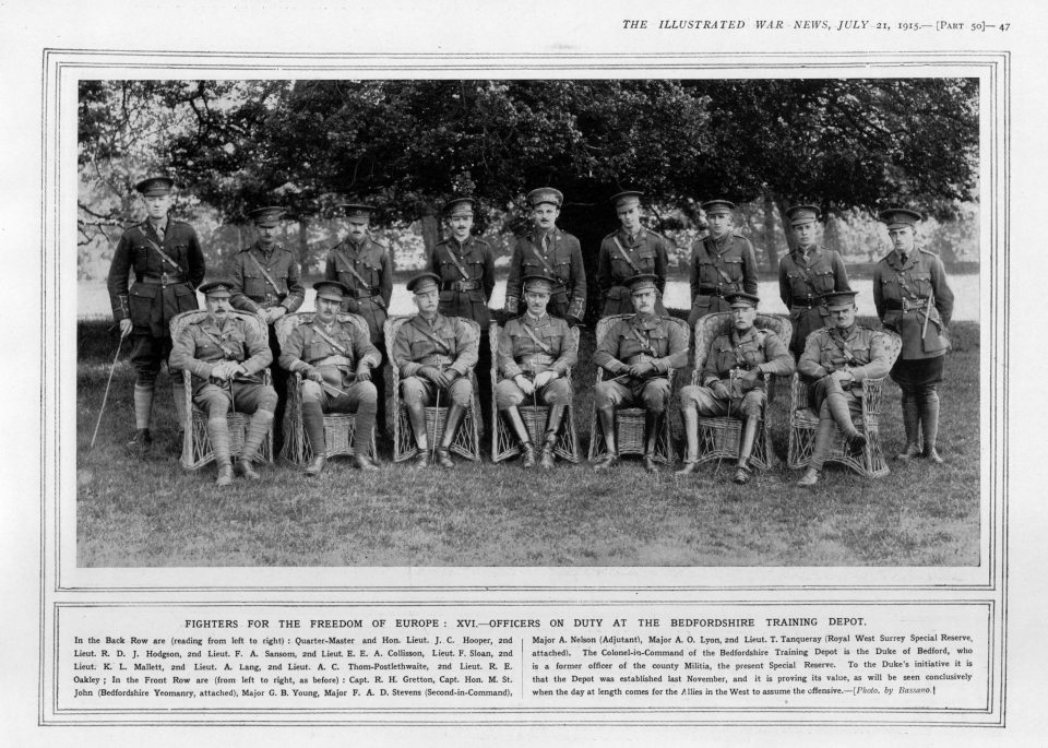 Officers on Duty at the Bedfordshire Training Depot