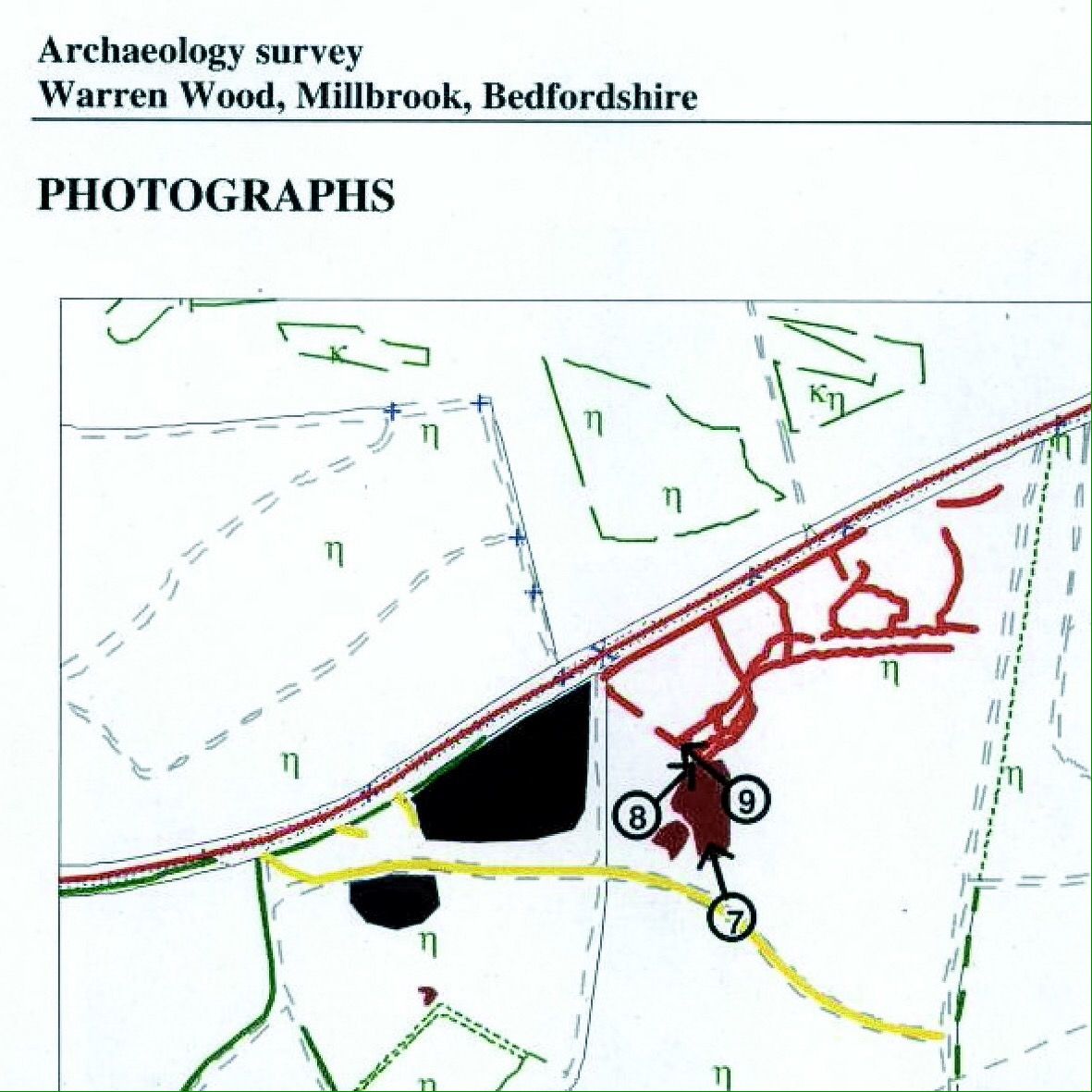 Wwi The Bedfordshire Training Depot In Ampthill Park Trench Diagram Survey Concluded That Irregular Linear Trenching Is Almost Certainly Area Of World War I Practice Trenches