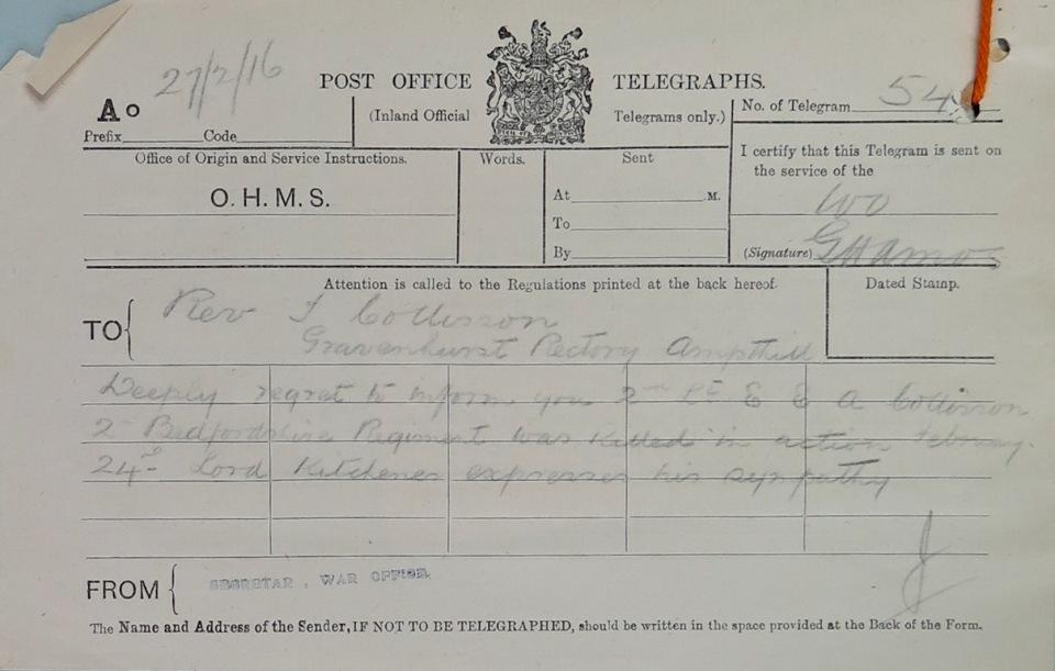 E.Collisson telegram