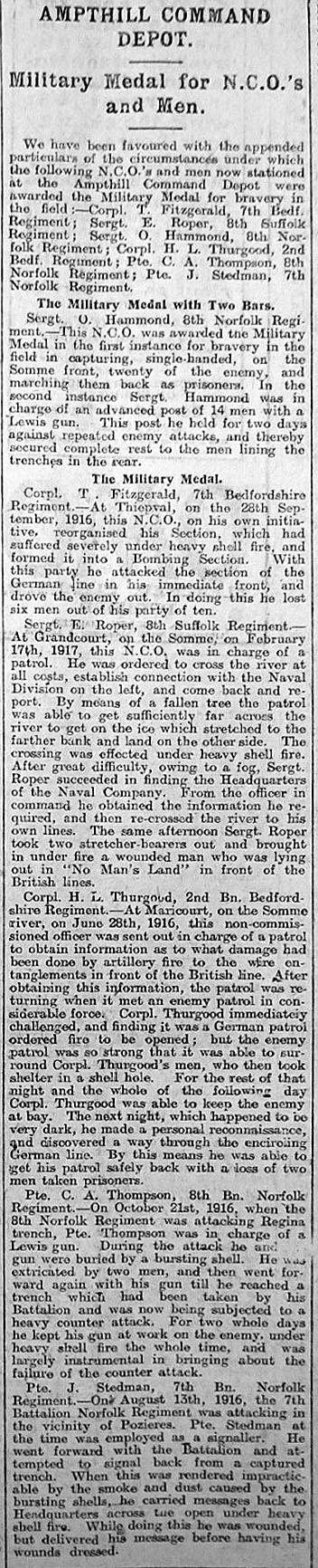 Bedfordshire Standard - August 31, 1917